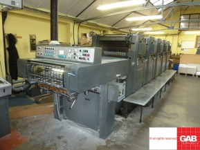 Five colour used offset printing machines Used Heidelberg MOFP-H five colour offset for sale