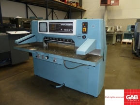 Used guillotine machines Wohlenberg 92 MCS-2TV guillotine for sale