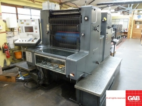 Two colour used offset printing machines Heidelberg MOZP two colour offset printing machine