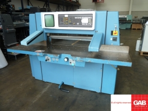 Used guillotine machines wohlenberg 92 mcs-2tv paper cutter