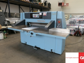 Used guillotine machines Wohlenberg 115 guillotine with repro digital programs