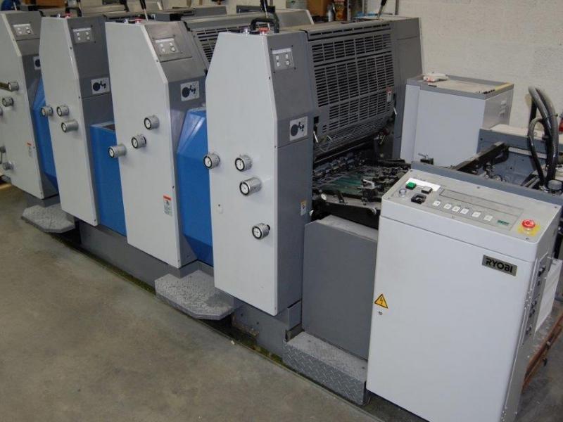 Four colour used offset printing machines RYOBI 524HE 4