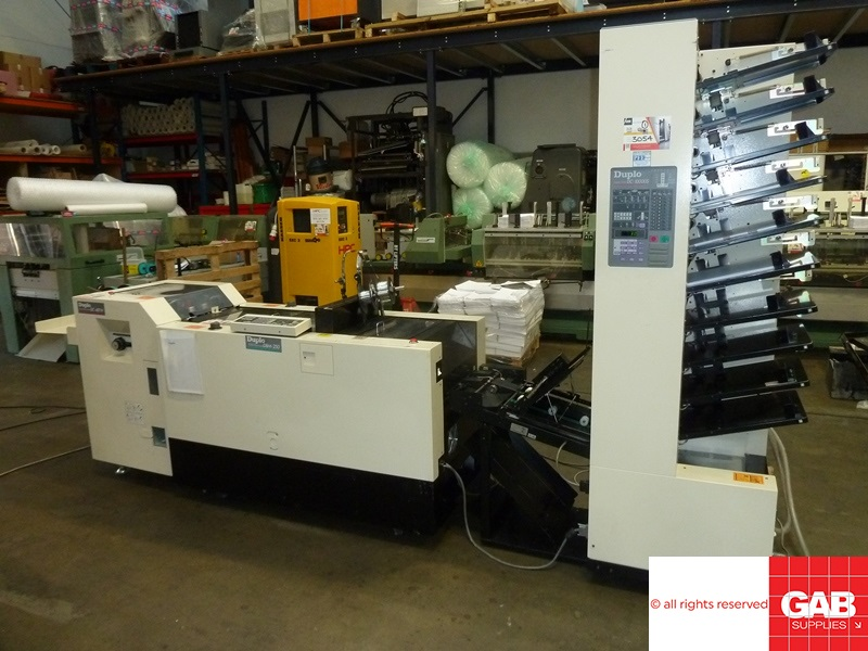 used duplo booklet maker - dc 10000 s with dbm250/t