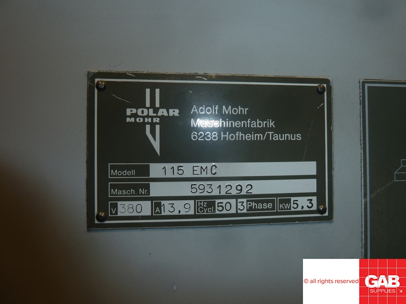 USED POLAR 115 EMC GUILLOTINE