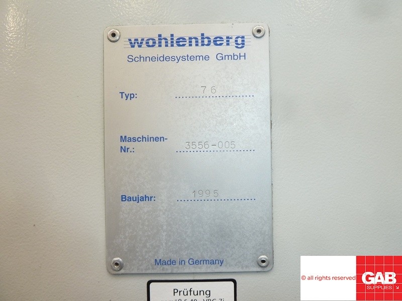 wohlenberg 76 guillotine for sale